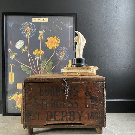 Vintage Burrows and Sturgess of Derby Lidded Crate