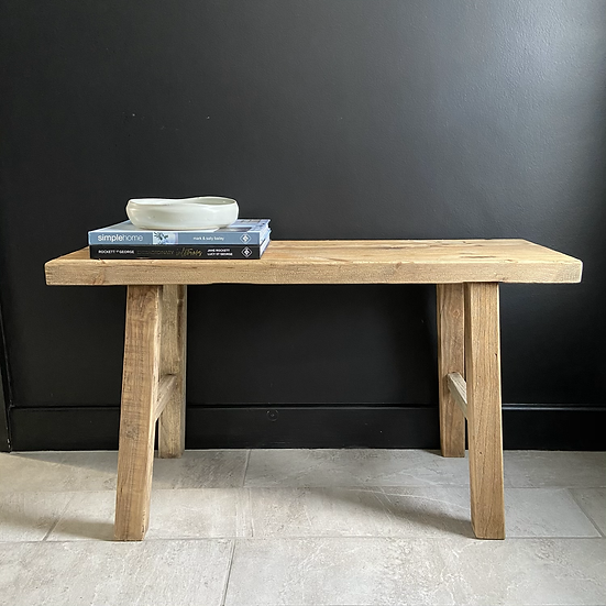 Two Seater Rustic Elm Bench/Coffe Table #1