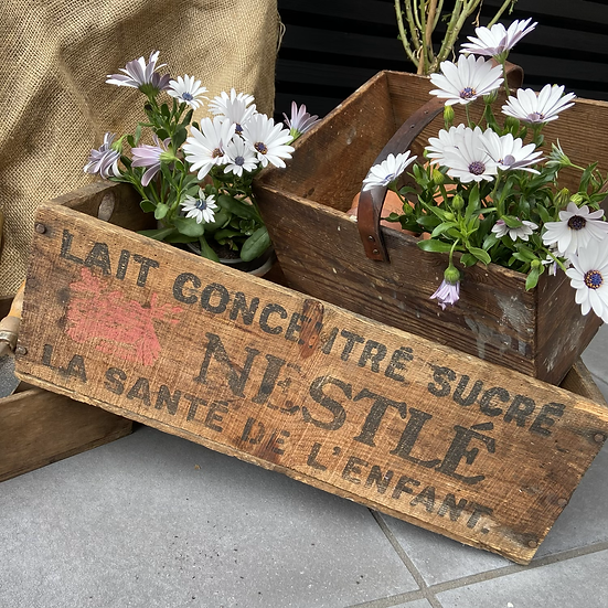 French Nestle Milk Delivery Crate