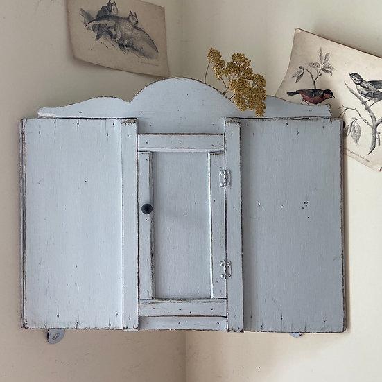 Quaint Vintage French Corner Cupboard
