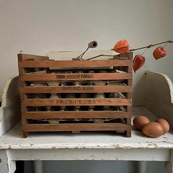Vintage American Wooden Egg Crate