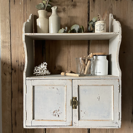 French Vintage Wall Hung Cupboard