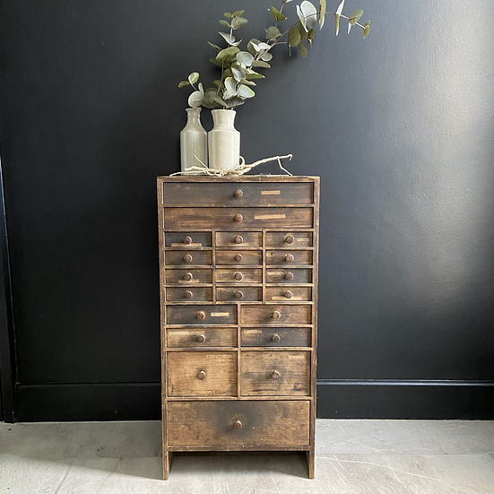 Vintage French Lamp Makers Drawers #1