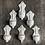 Thumbnail: White Ceramic French Holy Water Fonts