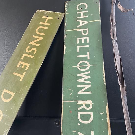 Vintage Destination Board