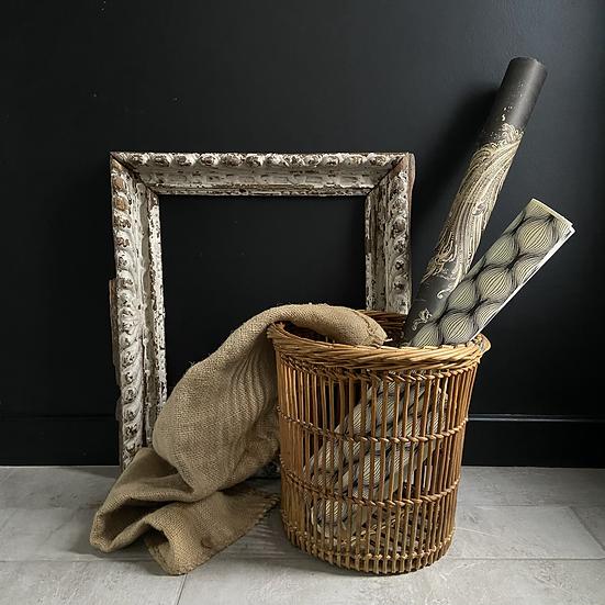 Vintage French Waste Paper Basket