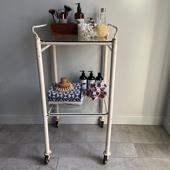 Metal and Glass 1950's Medical Trolley