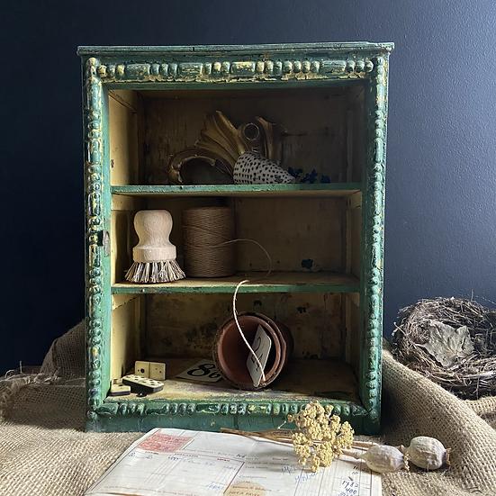 Glorious Green Vintage Shelf Unit