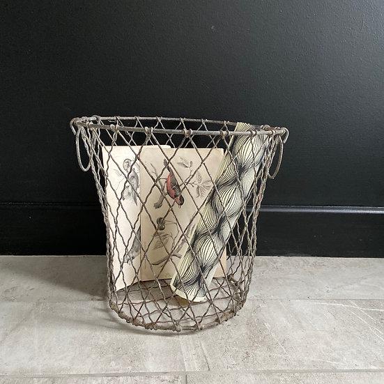 Vintage Wire Waste Paper Basket