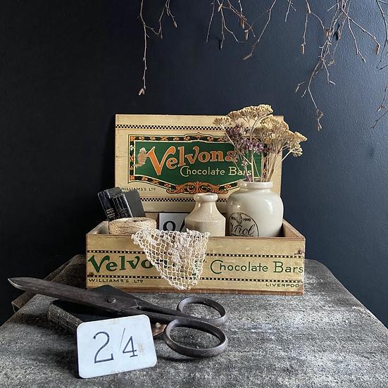 Rare Vintage Velvona Chocolate Display  Box