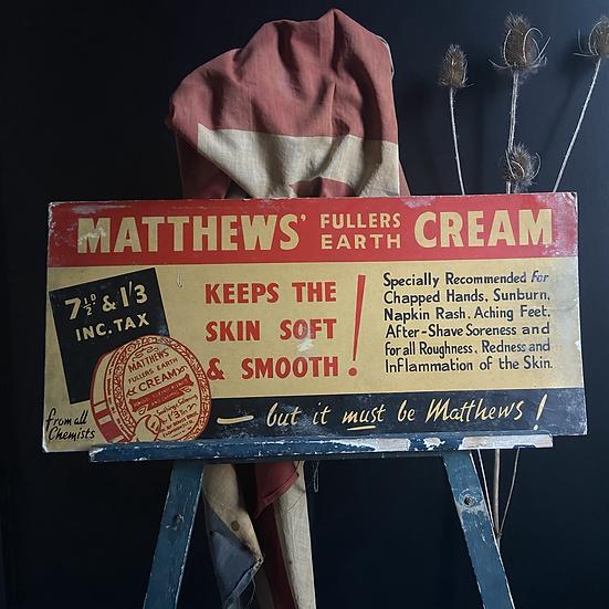 Large Vintage Cardboard  Transport Advertising Sign Circa 1950's