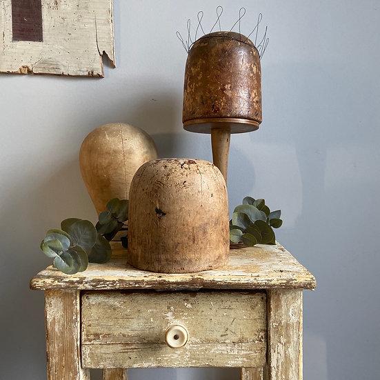 Vintage Wooden Milliners Hat Block