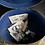 Thumbnail: Faux Wood Metal Toleware Victorian Hat Box