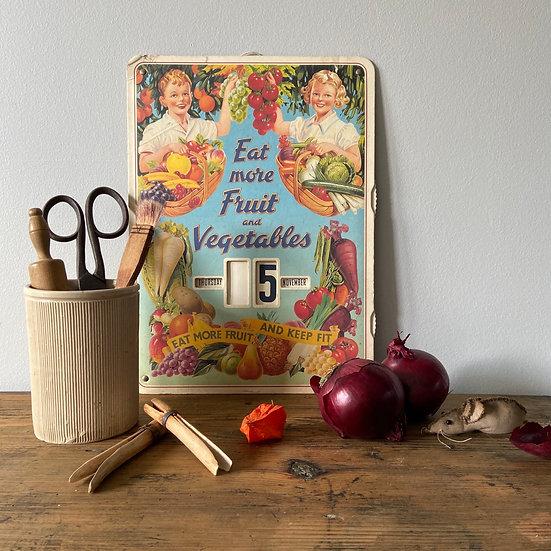 Vintage Advertising Perpetual Calendar