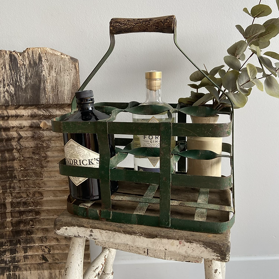 Rustic Green French Bottle Carrier