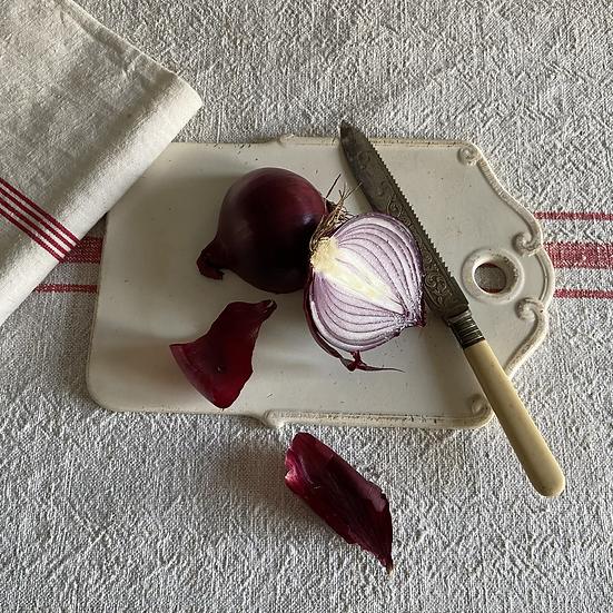 Rare Antique French Ironstone Onion Board