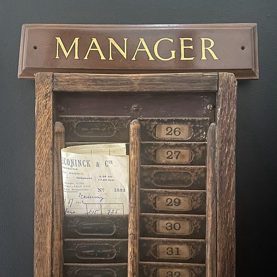 Bank Managers' Door Sign C.1960's