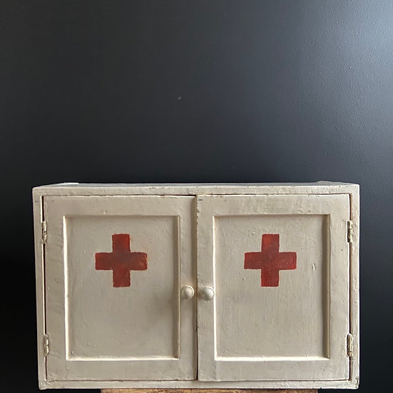 Vintage Two Door First Aid Cabinet