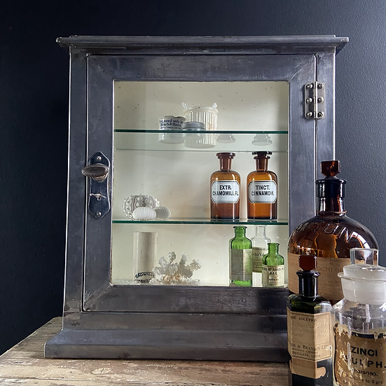Glass and Metal Surgery Display Cabinet