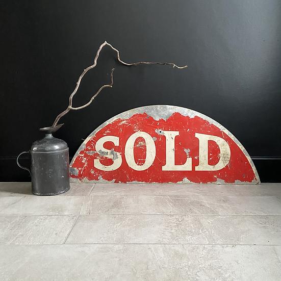 Vintage Metal Estate Agent Sold Sign