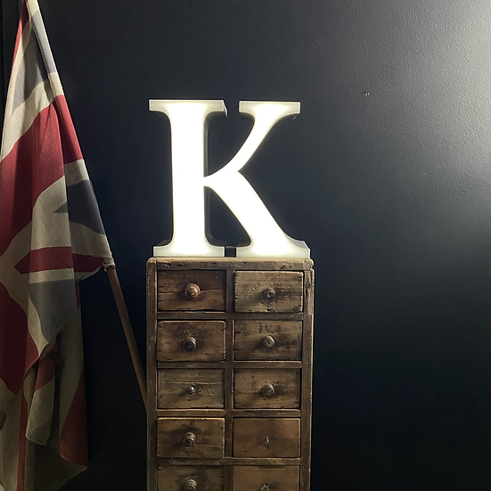 Vintage Illuminated Letter K