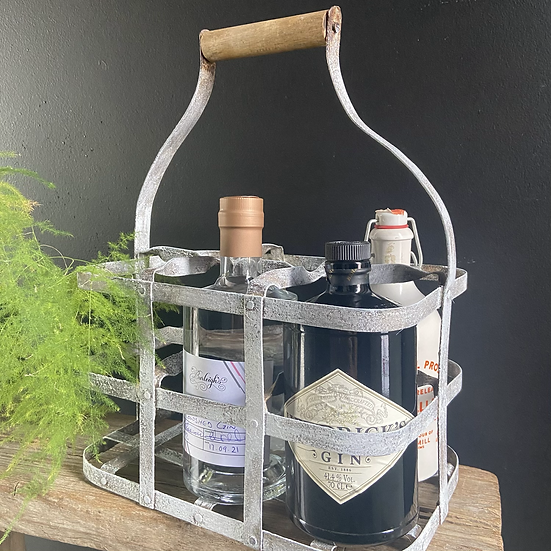 Rustic French Vintage Bottle Carrier