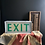 Thumbnail: Vintage EXIT Sign Light Box Lamp