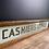 Thumbnail: Original Vintage Glass Cashiers Office Sign