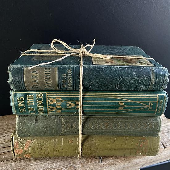 Green Vintage Book Bundle