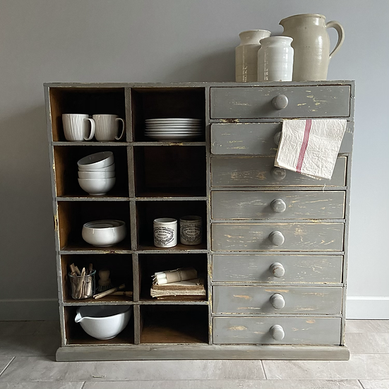 Fabulous Chippy Vintage Pigeonholes and Drawers