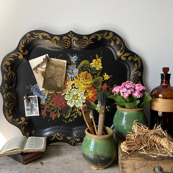 Beautiful Large Toleware Tray/Notice Board
