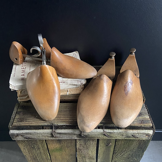 Two Pairs of Vintage Wooden Shoe Lasts