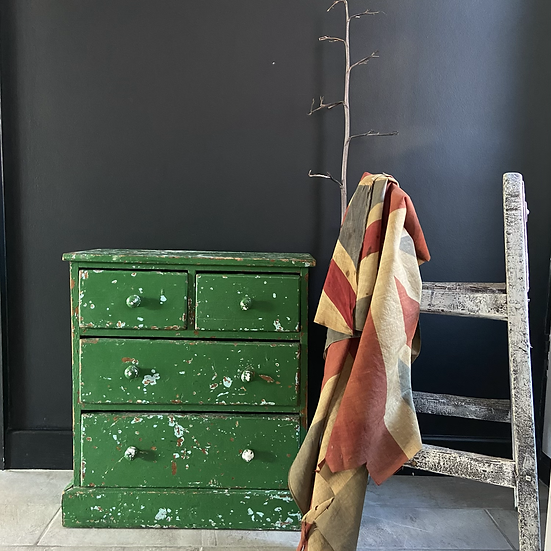 Fabulous Rustic Chippy Green Drawers