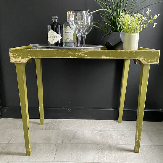 Green Vintage Folding Butlers Table