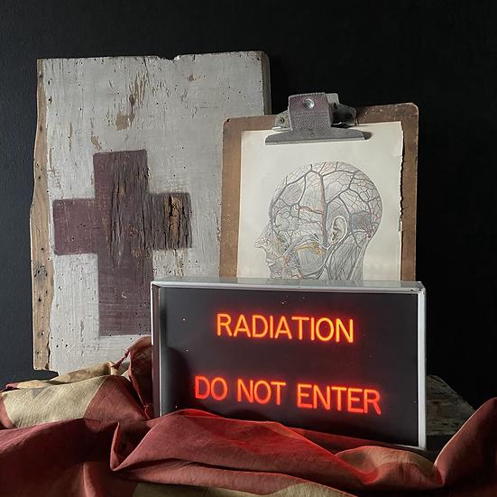 Genuine Vintage Hospital Radiation Light Box Sign