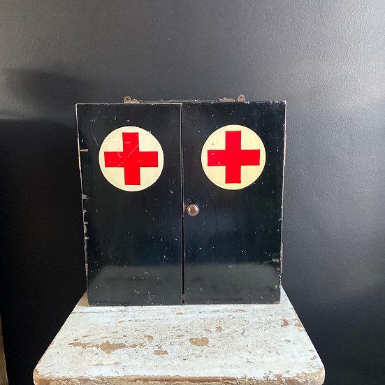 Unusual Vintage First Aid Cabinet