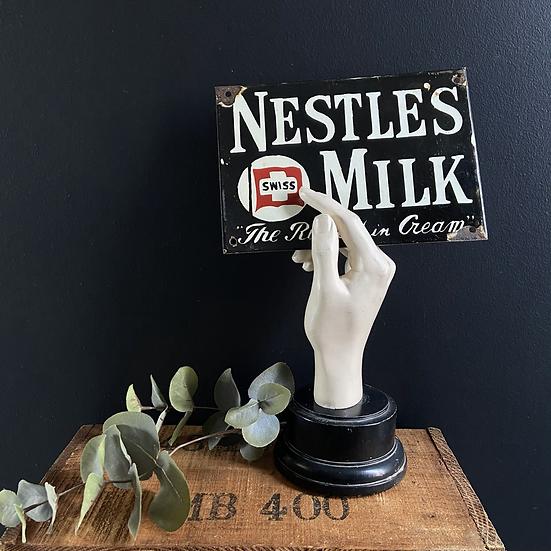 Vintage Enamel NESTLE'S MILK sign