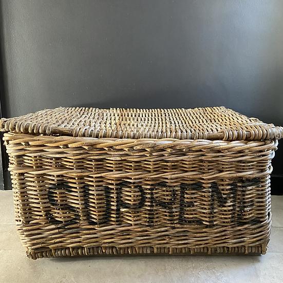 Large Vintage Supreme Laundry Basket