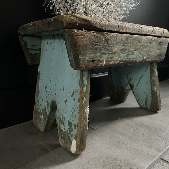 Gorgeous Rustic French Scratch Built Stool