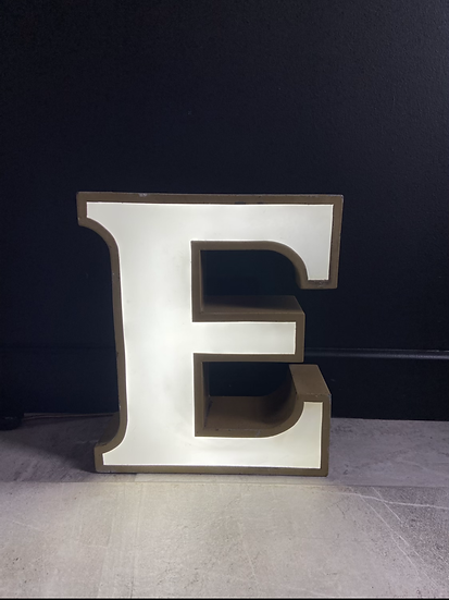 Vintage Illuminated Letter E