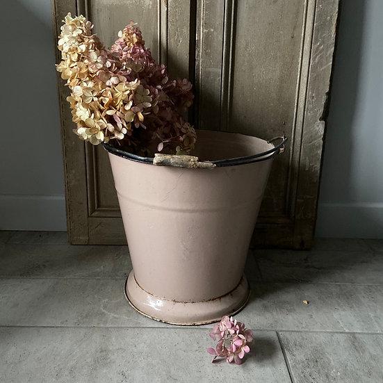 Vintage Enamel Pink Bucket #4