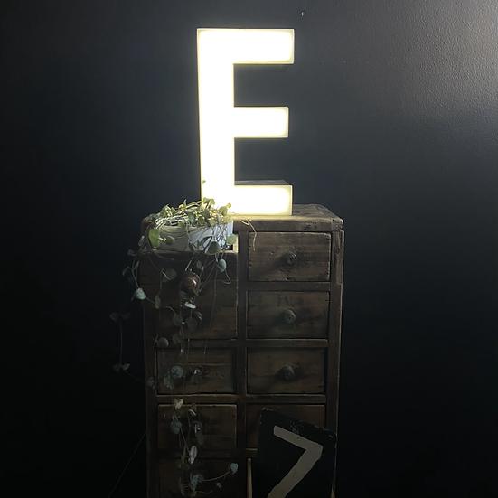Vintage Illuminated Shop Sign Letter E