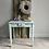 Thumbnail: Cute Vintage Chippy Pale Blue Side Table