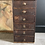 Thumbnail: Stunning Tall Wooden Vintage Collectors Drawers