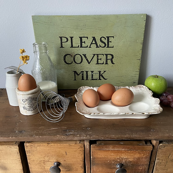 Lovely Vintage Wooden Hand Painted Sign