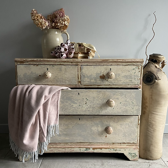 Gorgeous Worn and Wonderful Vintage Chest of Drawers