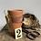 Thumbnail: A Set of Three Vintage Terracotta Plant Pots