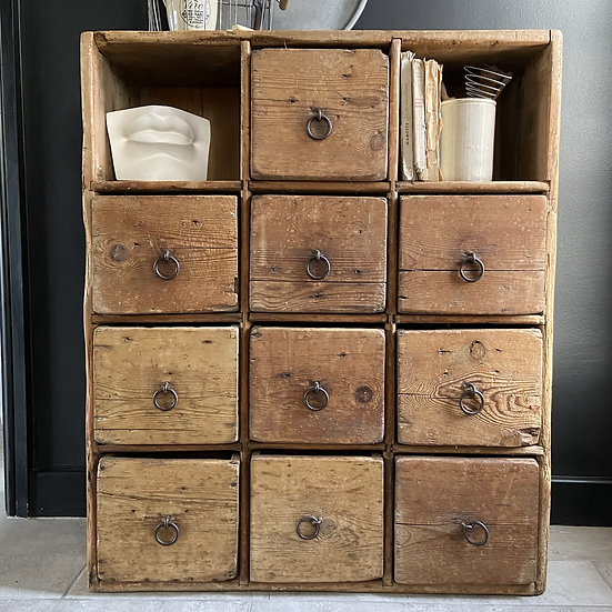 Scratch Built Rustic French Vintage Drawers