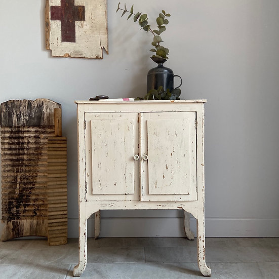 Lovely Old French Chippy Paint Cabinet