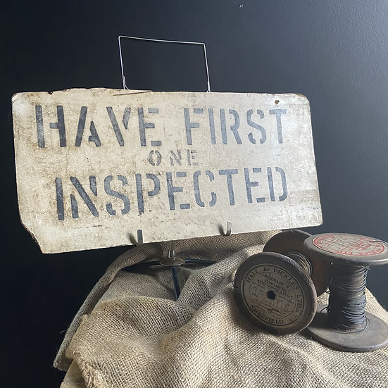 Unique Vintage Weathered and Wonderful Industrial Sign